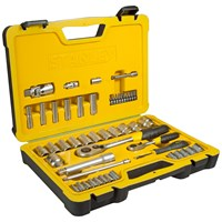 Stanley  50pce Socket Set 1/2in and 1/4in Drive
