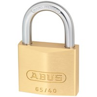 Abus  65 Series Brass Padlock 40mm - Twin Pack