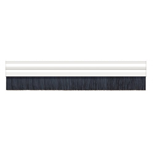 Exitex  White Brush Strip PVC & 50 mm Bristle Draught Excluder - 2.129m