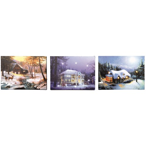 Premier Decorations  Canvas Picture - Winter Scene