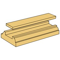 Picton Staircraft Pine Stair Base Rail - 13ft