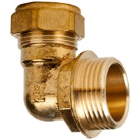 Mez Brass Compression 316 Male Elbow Pipe Fitting