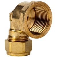 Mez Brass Compression 317 Female Elbow Pipe Fitting